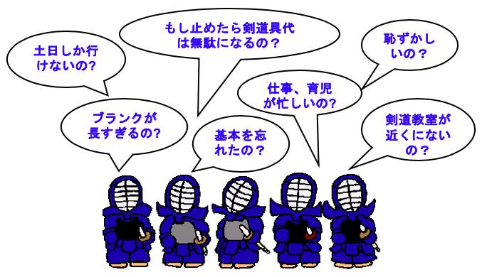剣道ブランクの課題